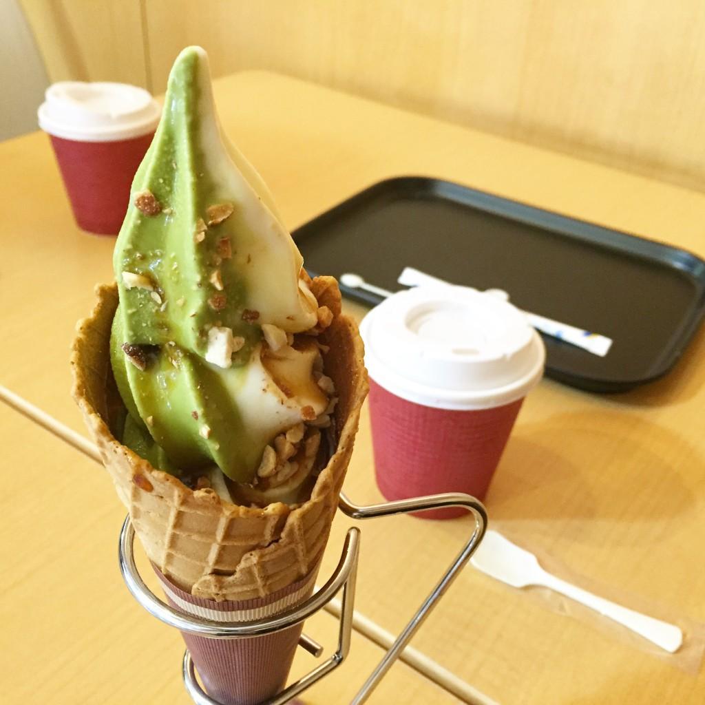 千葉 マザー牧場 抹茶 ソフトクリーム